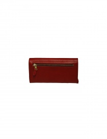 Il Bisonte long red wallet with zippers