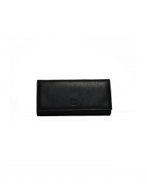 Il Bisonte long wallet in black leather C0664 P 153N
