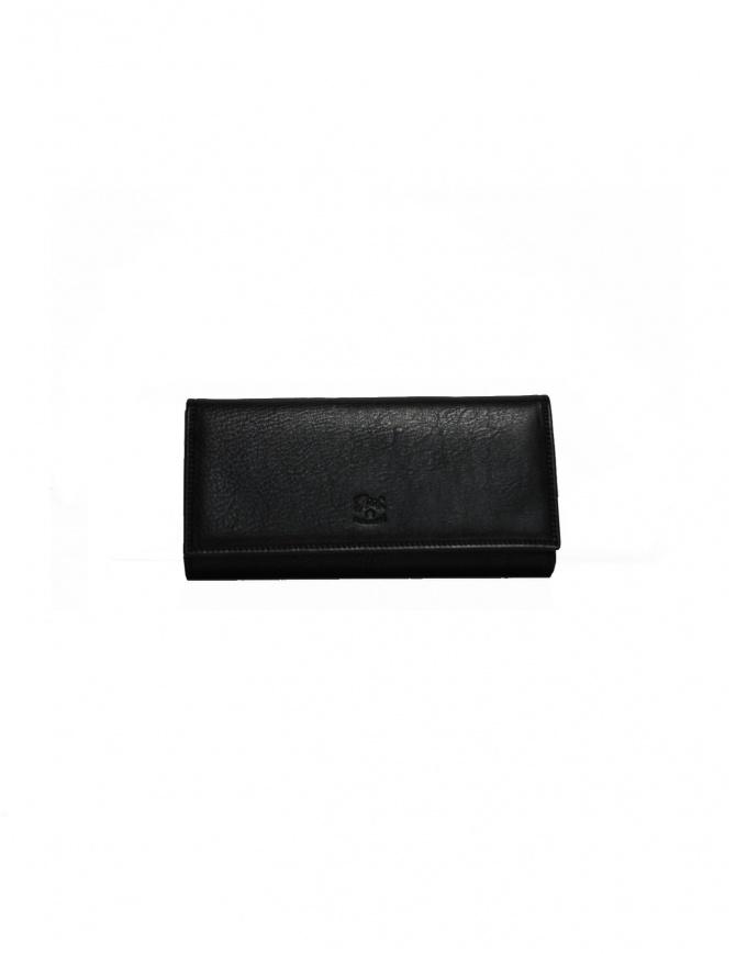 Portafoglio Il Bisonte lungo in pelle nera C0664 P 153N portafogli online shopping