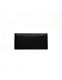 Il Bisonte long wallet in black leather buy online