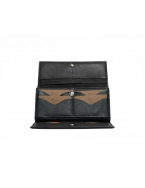 Il Bisonte long wallet in black leather price
