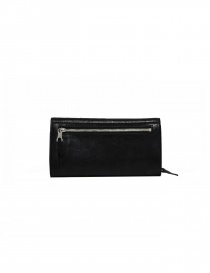 Il Bisonte Long Wallet with Zippers in Black Leather