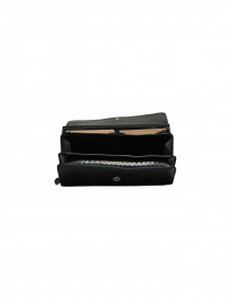 Il Bisonte Long Wallet with Zippers in Black Leather price
