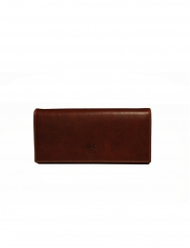 Il Bisonte long wallet in brown leather online