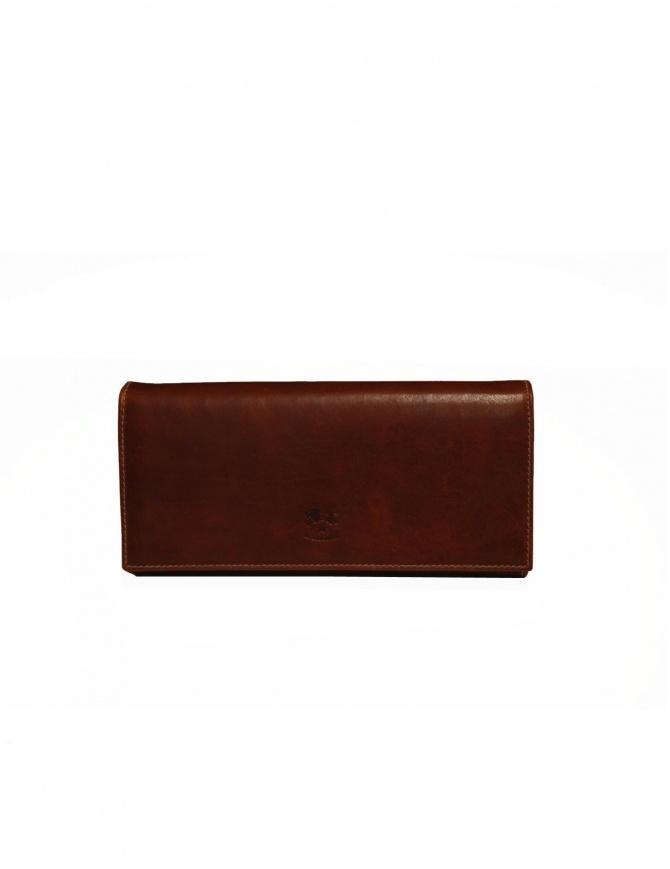 Portafoglio lungo Il Bisonte in pelle marrone C0664..PO 566 portafogli online shopping