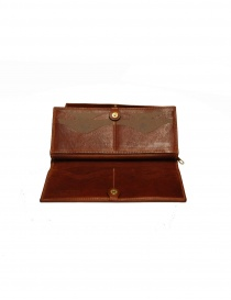 Il Bisonte long wallet in brown leather