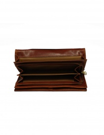 Il Bisonte long wallet in brown leather price