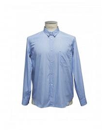 Camicia Golden Goose azzurra fantasia e colletto con spilla G25U521.A2