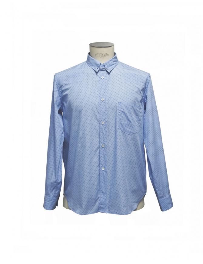 Golden Goose light blue patterned shirt with collar pin G25U521.A2 mens shirts online shopping
