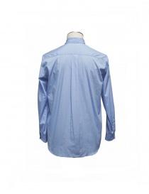 Camicia Golden Goose azzurra fantasia e colletto con spilla acquista online