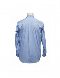 Golden Goose light blue patterned shirt with collar pin