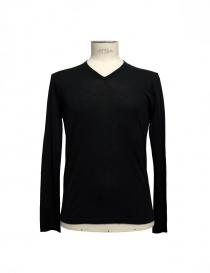 Black V-neck pullover Adriano Ragni 7ARSW23PCWS2