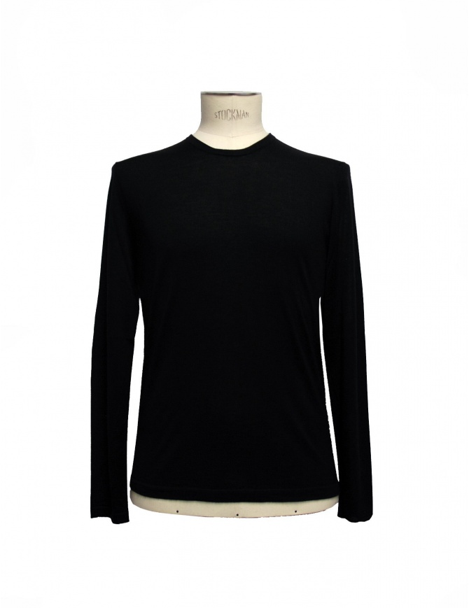 Black pullover Adriano Ragni 7ARSW22PCWS2 mens knitwear online shopping