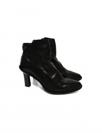 Womens shoes online: Black leather Guidi MC87 shoes