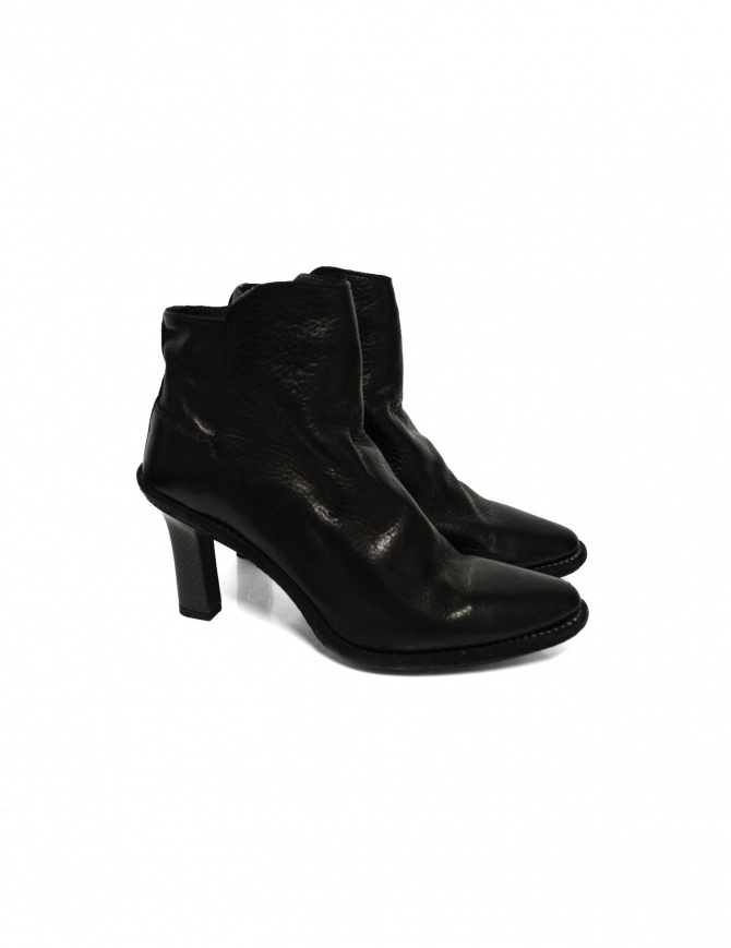 Black leather Guidi MC87 shoes MC87 BLKT DONKEY womens shoes online shopping