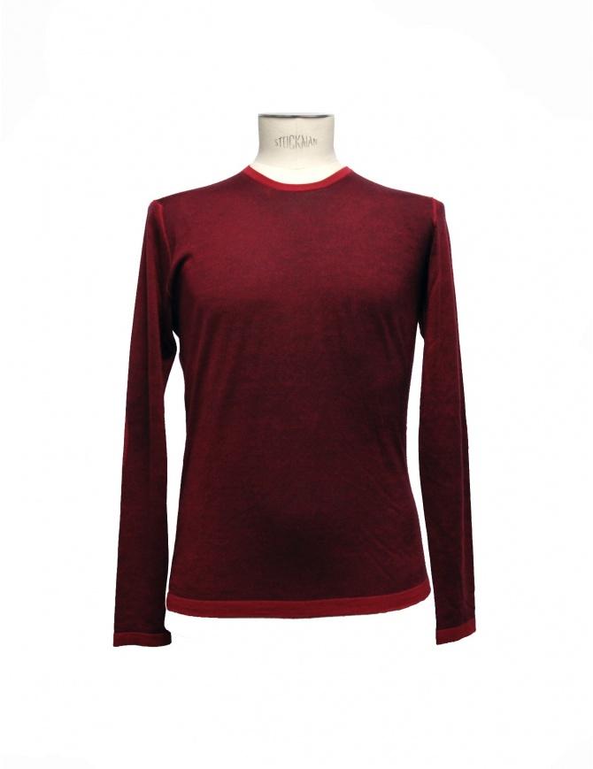 Maglia Adriano Ragni colore rosso 7ARSW22-PC-W maglieria uomo online shopping