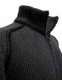 Label Under Construction Handstitched Knit grey jacket mens coats buy online
