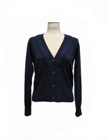 Cardigan Side Slope colore blu SLL20-L031-7 order online