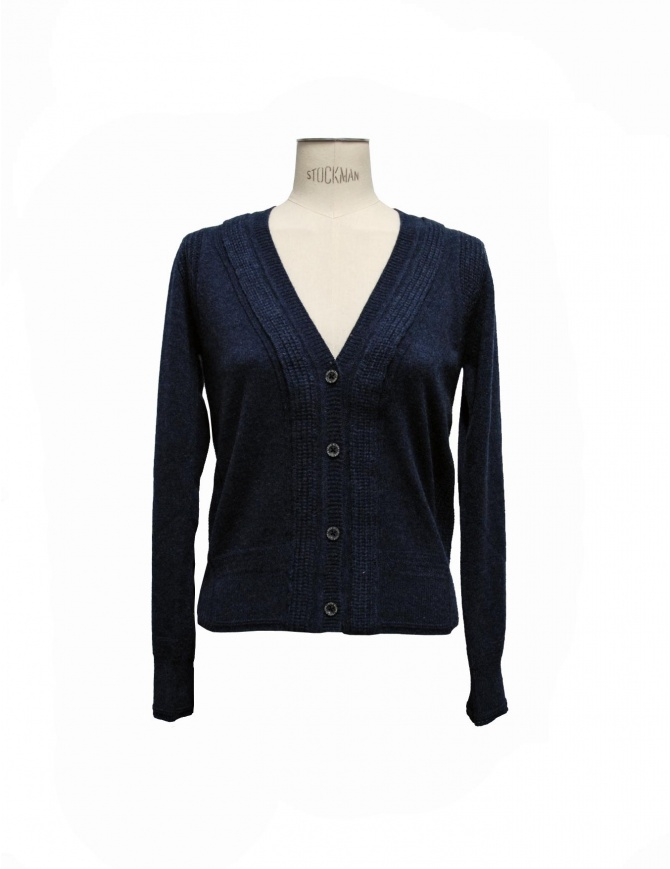 Side Slope navy cardigan SLL20-L031-7 womens cardigans online shopping