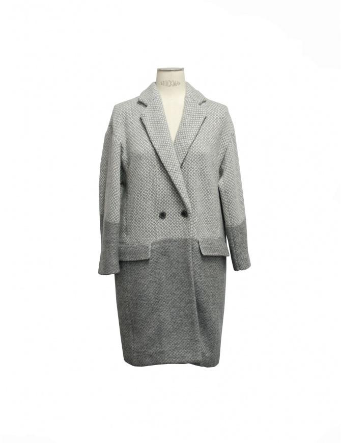 Side Slope gray coat SLL20-L131 1 womens coats online shopping