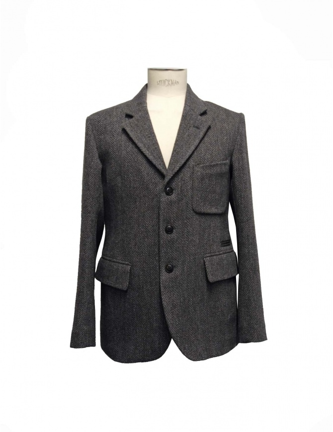 Giacca Nigel Cabourn Fox Brothers in tweed grigio JK-8 giacche uomo online shopping