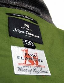 Giacca Nigel Cabourn Fox Brothers in tweed grigio prezzo