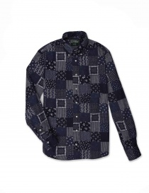 Gitman Bros patchwork shirt online