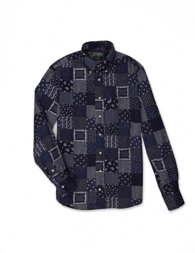 Camicia Gitman Bros patchwork GU02-L477-41 camicie uomo online shopping