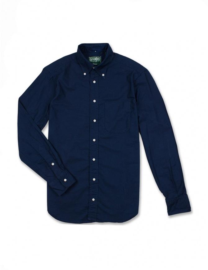 Camicia Gitman Bros colore blu GV02-L402-41 camicie uomo online shopping