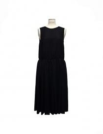 Sara Lanzi sleeveless black wool dress online