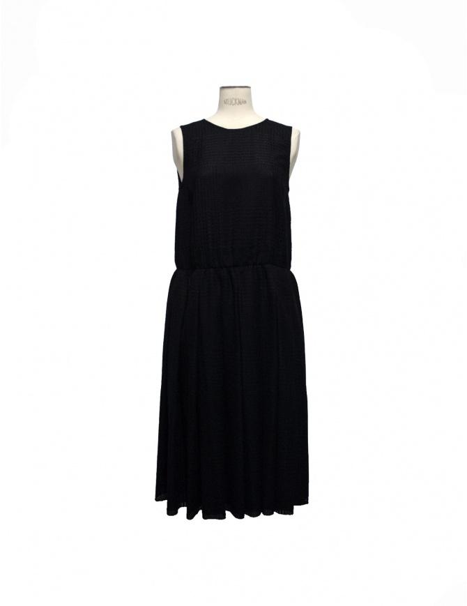 Sara Lanzi sleeveless black wool dress 04.WL.99 B womens dresses online shopping