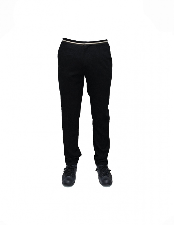 Pantalone Cy Choi cintura bianca e nera CA47P02ABK00 pantaloni uomo online shopping