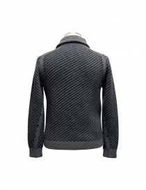 Adriano Ragni gray knit cardigan with zip buy online