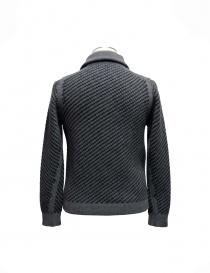 Cardigan a maglia Adriano Ragni grigio con zip
