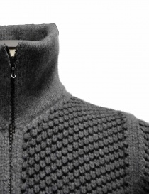 Adriano Ragni gray knit cardigan with zip price