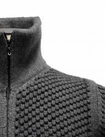 Cardigan a maglia Adriano Ragni grigio con zip prezzo