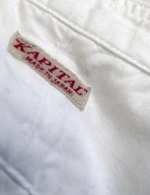 Camicia Kapital plissé bianca prezzo
