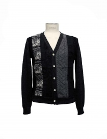 Mens cardigans online: 08SIRCUS black and gray cardigan