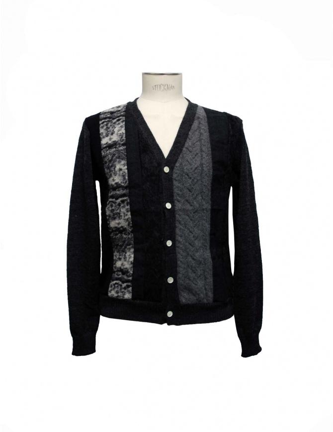 Cardigan 08SIRCUS nero e grigio KN04-01 cardigan uomo online shopping