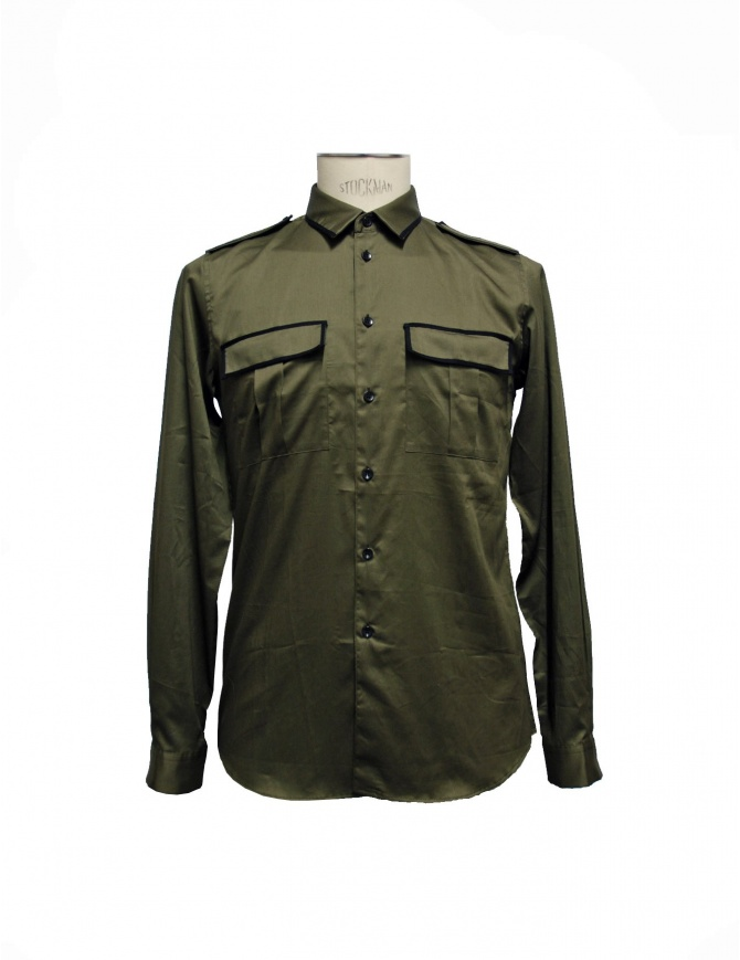Cy Choi shirt military green CA47S10AKK00 mens shirts online shopping