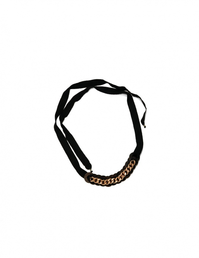 Ligia Dias Anni necklace with pink gold chain A2 BLK WASHERS PINK GOLD CH jewels online shopping