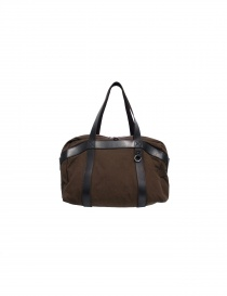 Borsa Sak in canvas e pelle 007 MARRONE