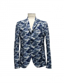 Golden Goose blue camouflage reversible suit jacket G26U539-B4