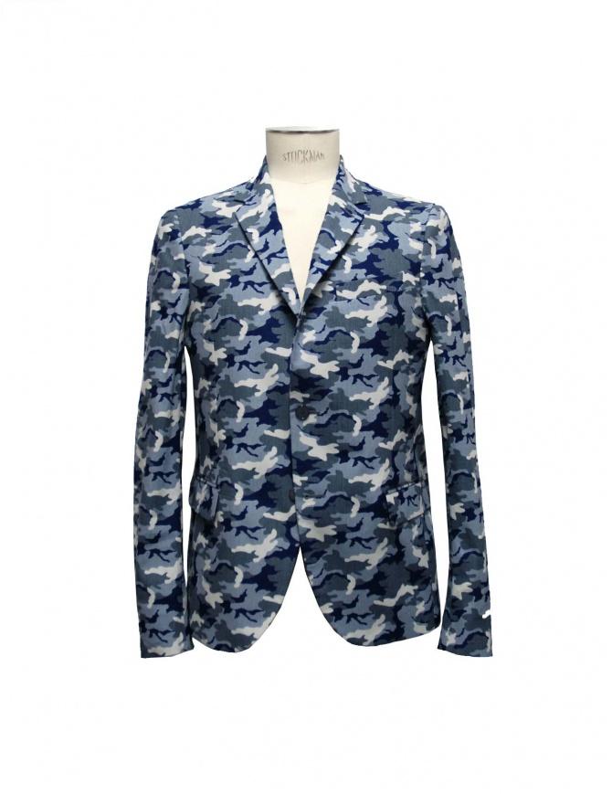 Giacca Golden Goose reversibile blu camouflage G26U539-B4 giacche uomo online shopping