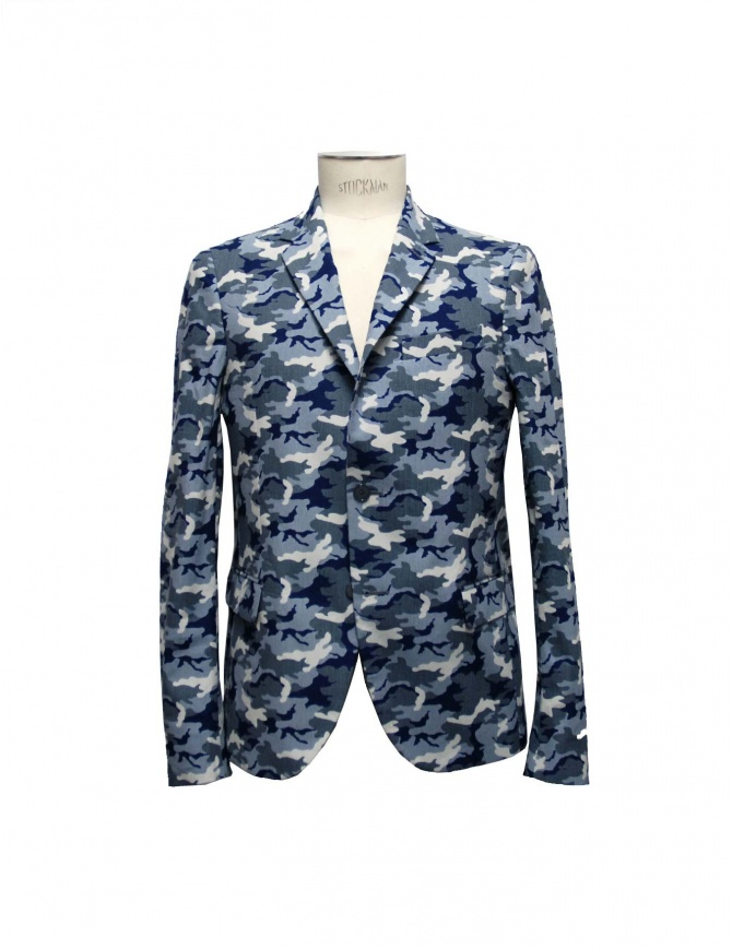 Golden Goose blue camouflage reversible suit jacket G26U539-B4 mens suit jackets online shopping