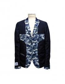 Giacca Golden Goose reversibile blu camouflage giacche uomo acquista online