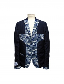 Golden Goose blue camouflage reversible suit jacket mens suit jackets buy online