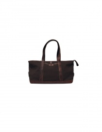 Sak canvas and leather Bag in dark brown color SAC004 MARRO