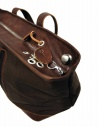 Sak canvas and leather Bag in dark brown color shop online bags