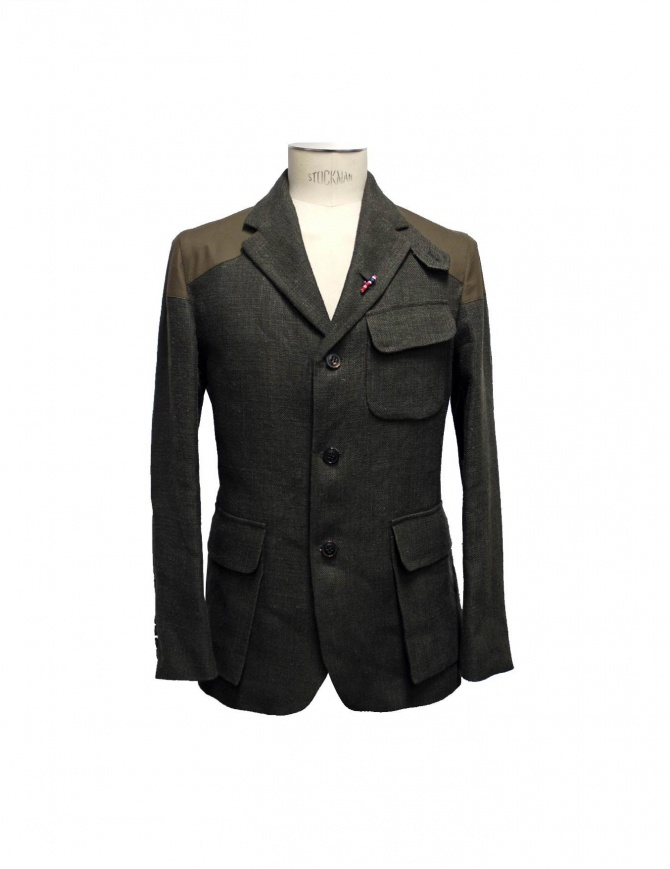 Giacca Nigel Cabourn Class Mallory con toppe JK1 DARK ARMY giacche uomo online shopping